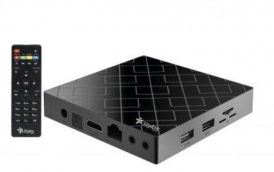 TV BOX STYLOS 4K ULTRA HD, ANDROID 9.0 2GB 16GB HDMI USB STVTBX4B